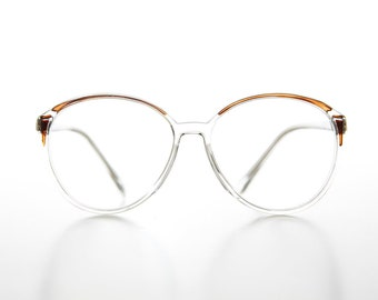e5542b5395e Clear Women s Oversized Reading Glasses   Brown Accents   2.00   2.25    2.50 diopter   Optical Quality Frame - Kathy