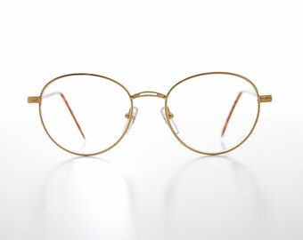 2a854ad89fe Round Gold Reading Glasses with Tortoiseshell Tube Temples   1.25  1.50   1.75  2.00- Shiloh
