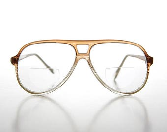6335c5dda89 Bifocal Aviator Magnifying Vintage Reading Glasses   Clear   Brown   1.25    2.00   2.75   3.25   3.75   Diopters - Indie