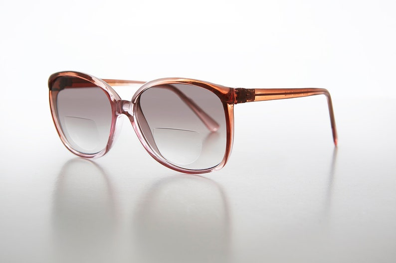 Women/'s Bifocal Sunreaders Peach Frame and Gradient Lens  1.25 diopter  Optical Quality Frame Kyra
