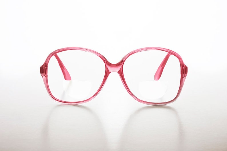 d6b139d2368 Oversized Pink Secretary Style Reading Glasses with Bifocals