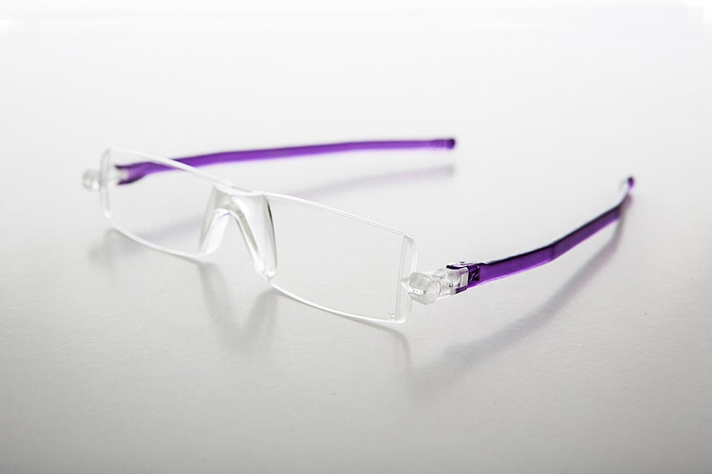 3898f2ebfb80 Purple Folding Reading Glasses Vintage   Diopter 1.25 Paulie