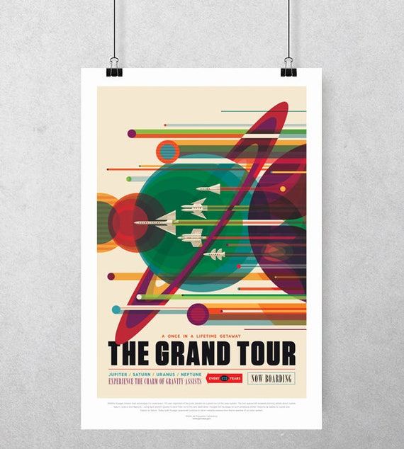 "NASA Space Tourism Grand Tour LARGE A1 Size 23/""x33/"" Poster **UK SELLER**"