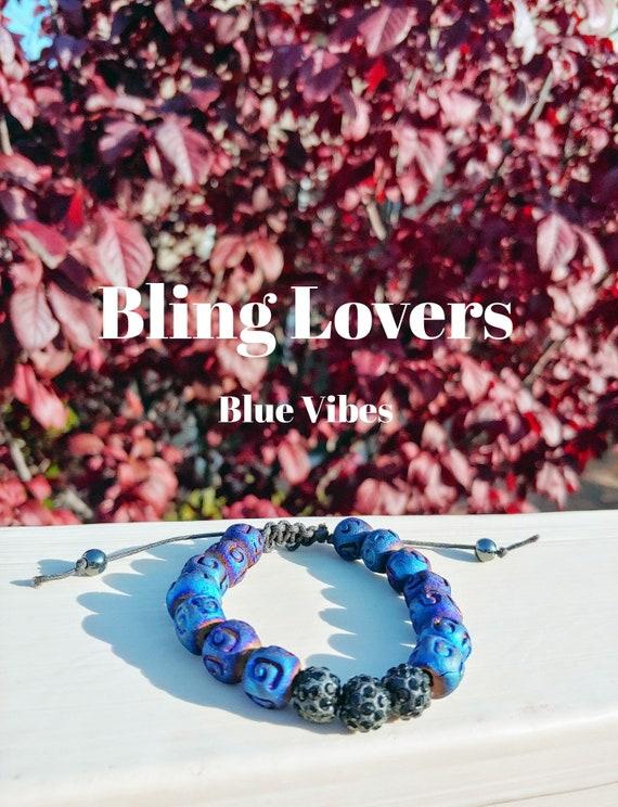 3cce2fb1959730 Bracelet/Blue/Vibes/adjustable bracelet/chord | Etsy