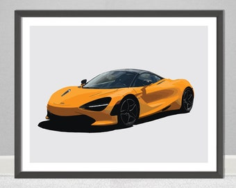 McLaren 720S GT3 Super Car Large Poster Art Print