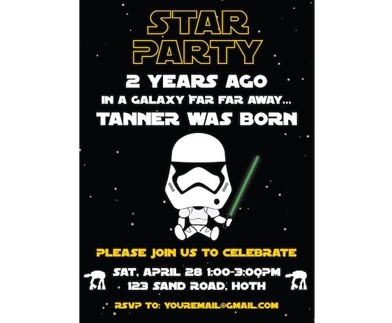Star Wars Birthday Invitation Personalized Digital