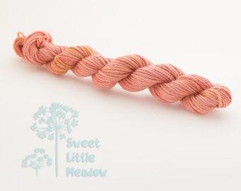 Mini DK skein - Beautiful hand dyed salmon hank superwash merino wool