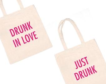 Drunk in Love Bachelorette Totes