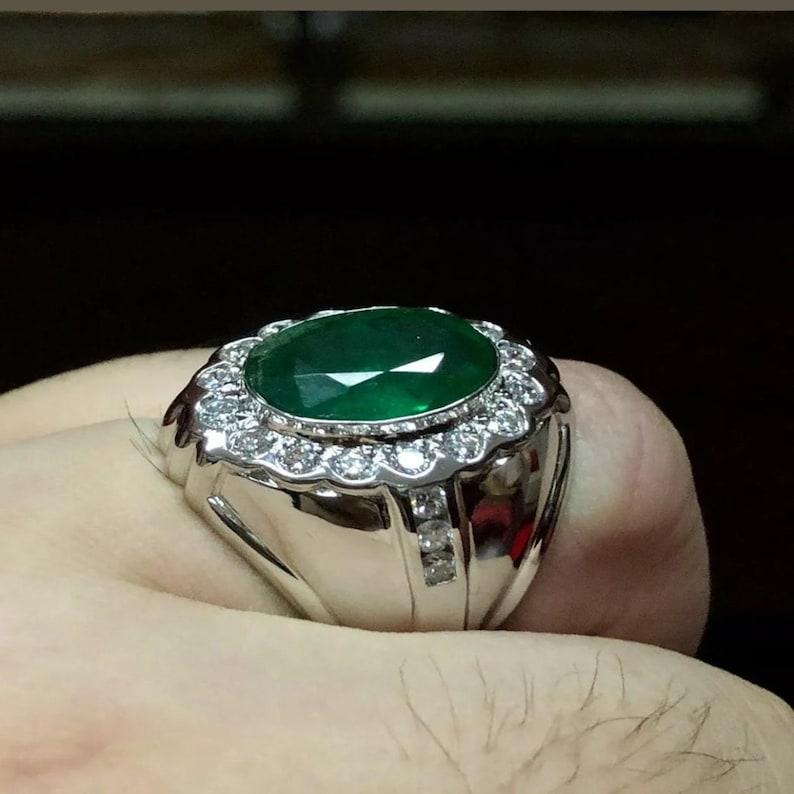 Green Oval Cut Halo Set Diamond Ring  Gorgeous Wedding Diamond Ring For Women  Anniversary Gift Diamond Ring  Birthday Gift Diamond Ring