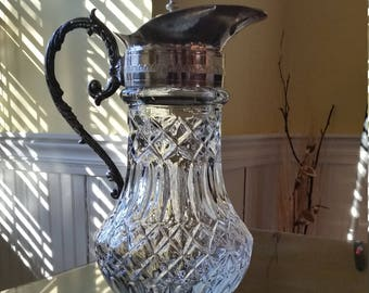 Crystal and silver 1000/1000 pitcher made in Italy