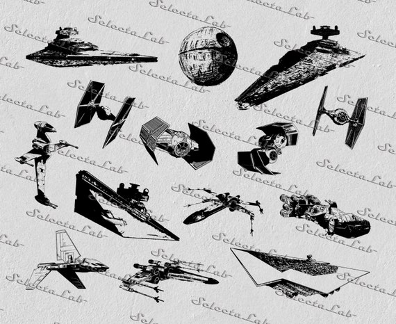 Digital Svg Png Tie Fighter Star Destroyer X Wing Star Wars Etsy