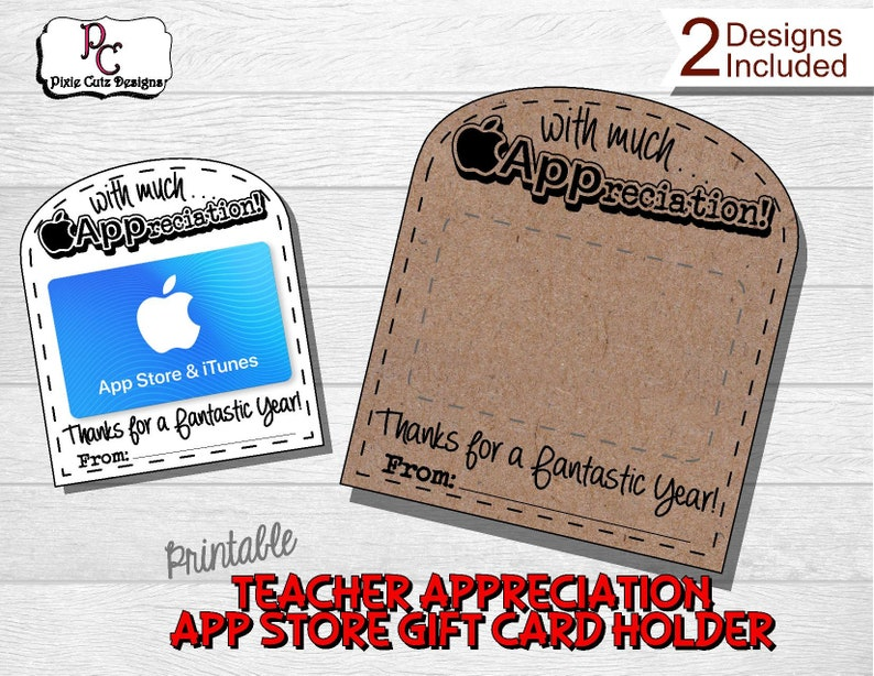 photograph regarding Printable Itunes Gift Card referred to as Application Retail store Reward Card Holder; Instructor appreciation Application Retail store reward; Apple reward card; instructor present; reward card holder; Itunes present card; Apple