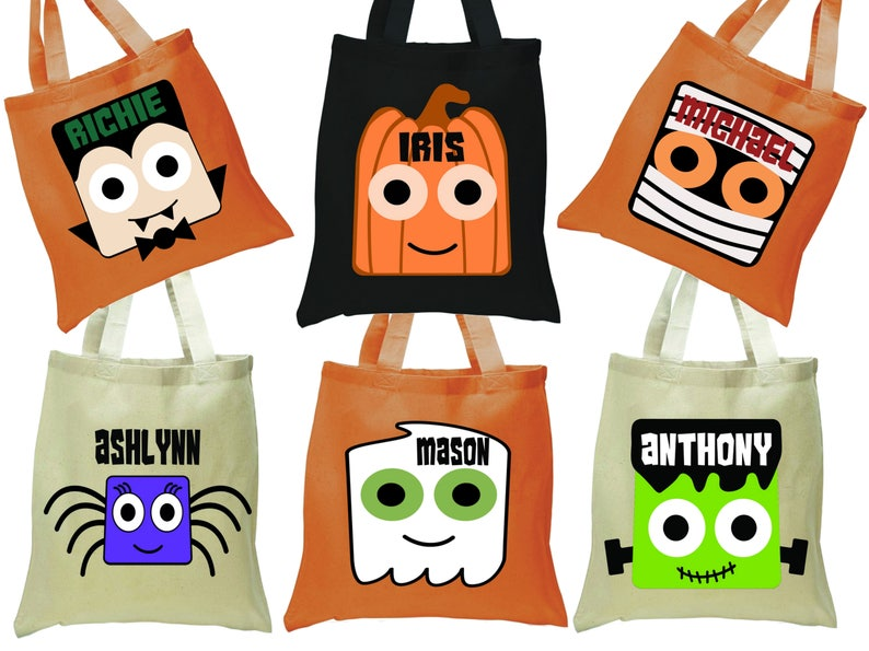 Halloween Trick Or Treat Bags Personalized.Halloween Trick Or Treat Bag Personalized Halloween Tote Trick Or Treat Tote Halloween Bag For Kids Treat Sack Trick For Treat Bag