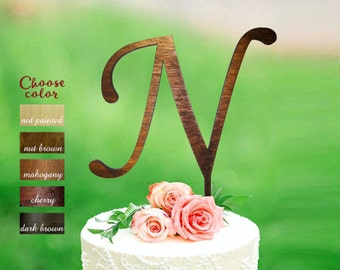 n cake topper cake topper letter n wedding cake topper monogram cake topper wood rustic letter cake topper letter n cake topper ct155