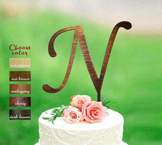 N Cake Topper Cake Topper Letter N Wedding Cake Topper Etsy
