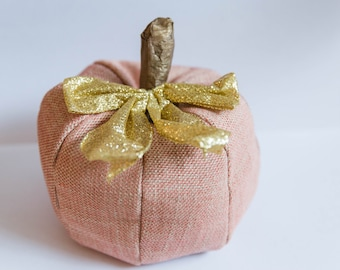 Pumpkin with bow - Fall Decor