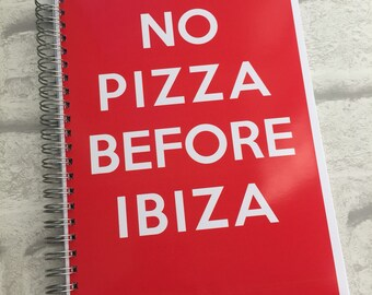 Slimming World Friendly - Food Planner Diary - Diet Tracker - Food Log - 8 Week / 12 Week Planner - No Pizza Before Ibiza