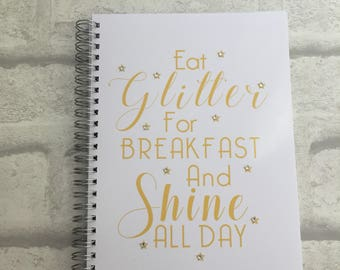Slimming World Friendly - Food Planner Diary - Diet Tracker - Food Log - 8 Week / 12 Week Planner - Eat Glitter For Breakfast