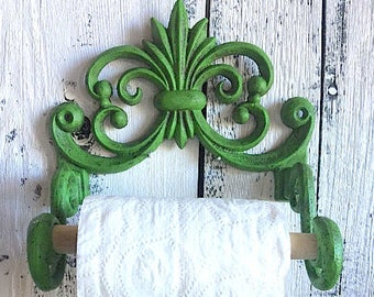 Cast Iron Toilet Paper Holder, Bathroom Storage, Scroll Toilet Paper Holder,