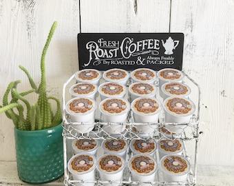 Coffe K Cup Organizer, K Cup Bar, K Cup Rack, Roast Coffee
