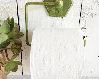 Toilet Paper Holder, Bathroom Decor, Remodel, Shabby Chic, Hexagon Metal Toilet Paper Holder
