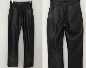 2aa8ffd6d23 90s leather pants women   leather jeans   leather pants vintage   black  leather pants