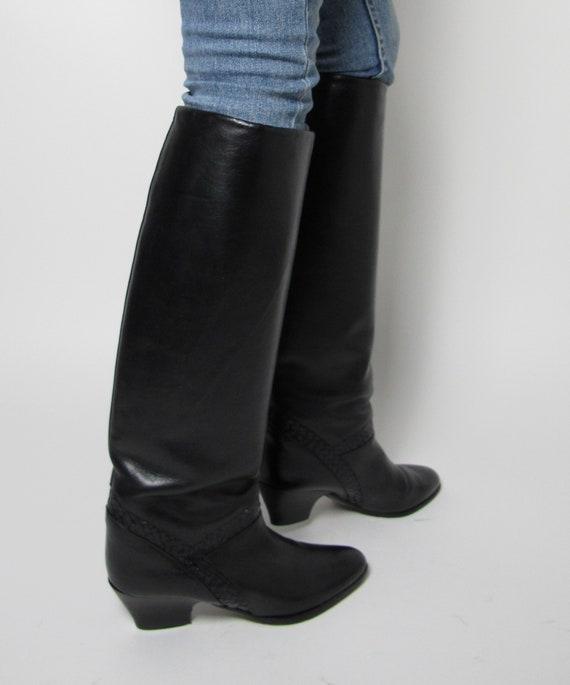 Stephane Kelian boots / 80s almond toe boots / 80… - image 4