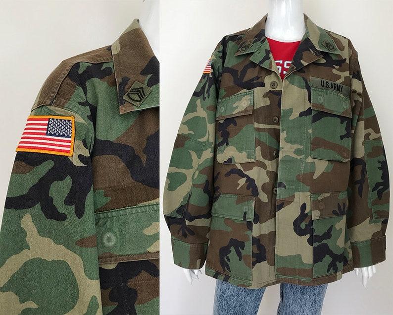 8adb8c636ea US military woodland jacket   80s military jacket men