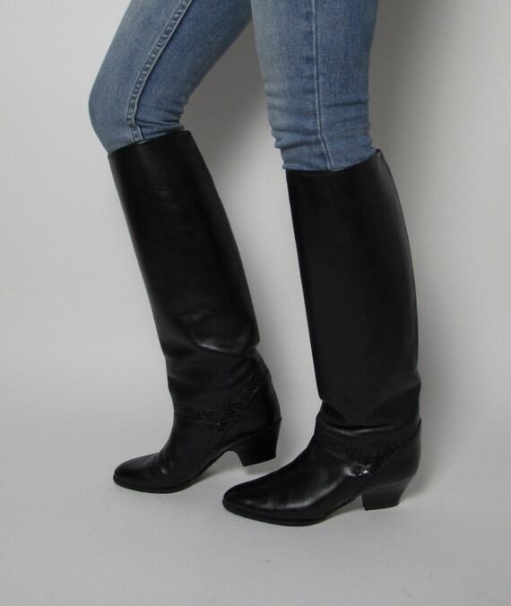 Stephane Kelian boots / 80s almond toe boots / 80… - image 2