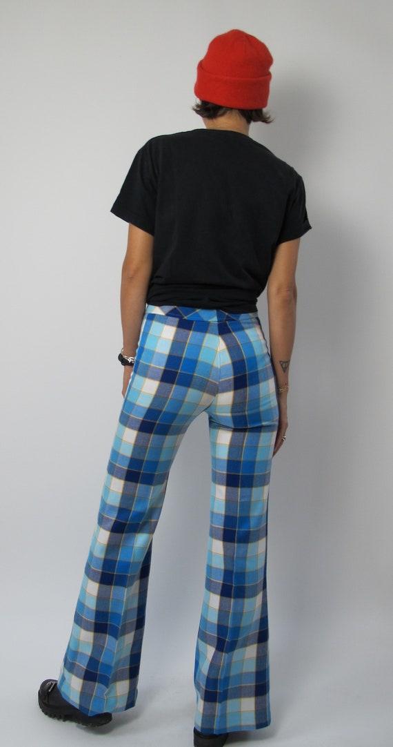 Rave check pants / 70s bell bottom pants / 70s ch… - image 6