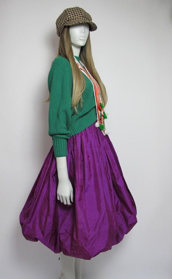 RARE / 70s Yves Saint Laurent silk skirt / Saint … - image 6