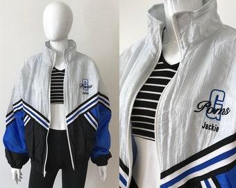 Vintage cheerleader jacket / cheerleader uniform / vintage windbreaker / 90s windbreaker / 90s clothing / vintage bomber jacket /made in usa