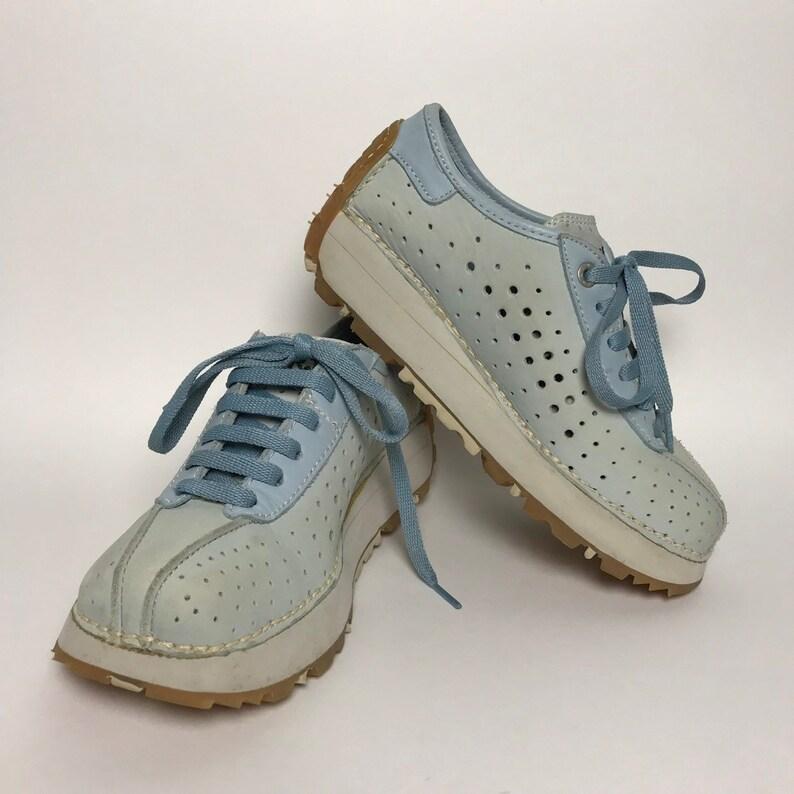 70e95584ec82 90s chunky sneakers   platform sneakers women   90s light blue