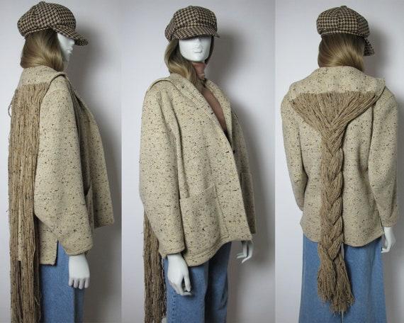 RARE / 70s grunge jacket / 70s hippie coat / 70s b