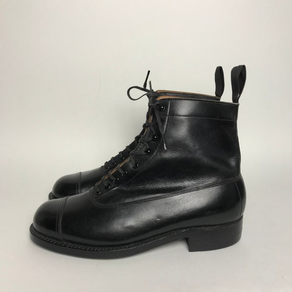 RARE / 30s ankle boots / black victorian boots / h