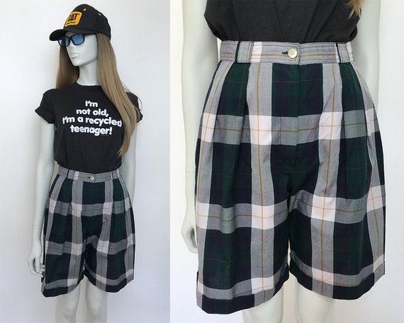 Gerard Darel bermuda shorts / 80s check shorts wom