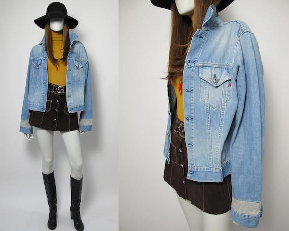 90s Replay denim jacket / 90s light wash denim jac
