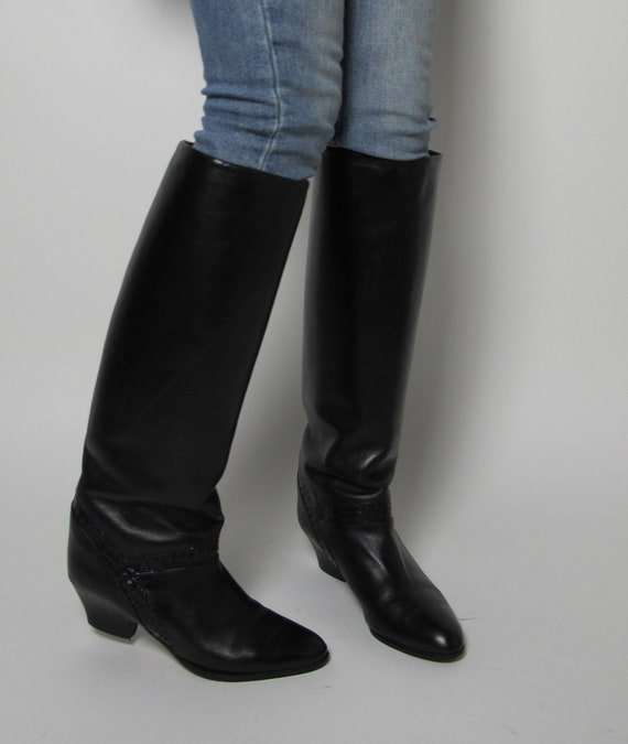 Stephane Kelian boots / 80s almond toe boots / 80… - image 3