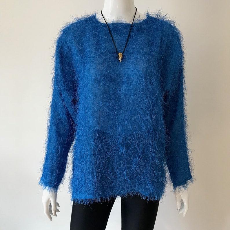 80s Fuzzy Etsy Peloso Maglione Vintage ggwaZqrxR