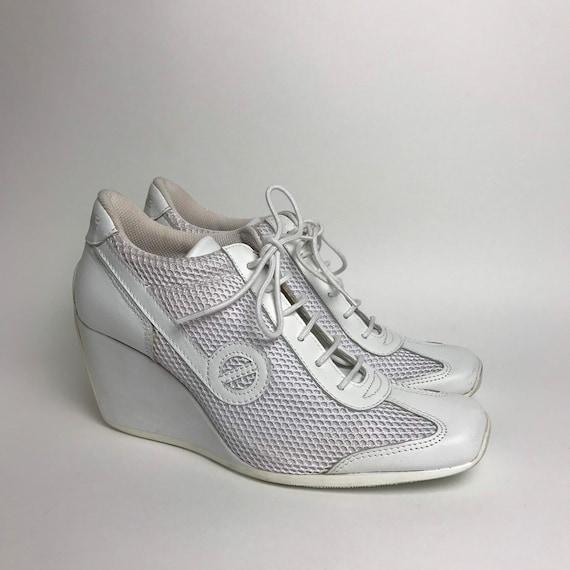 RARE / No Name / 90s white platform sneakers / 90s
