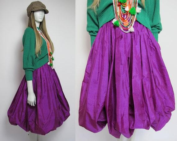 RARE / 70s Yves Saint Laurent silk skirt / Saint … - image 1