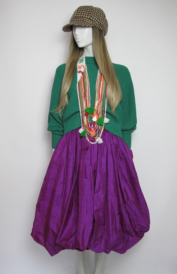 RARE / 70s Yves Saint Laurent silk skirt / Saint … - image 2