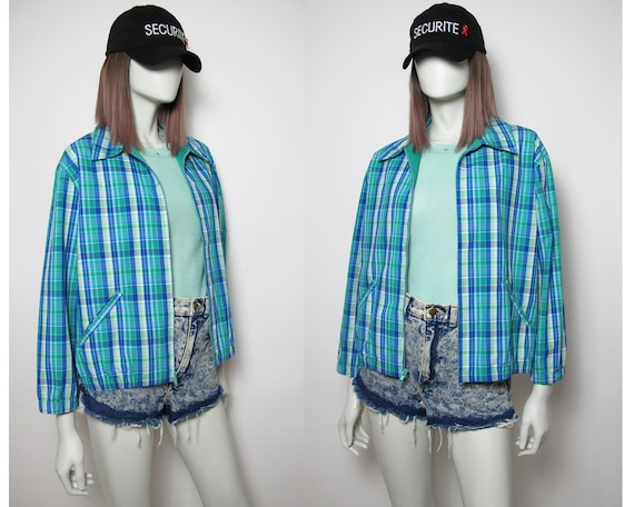 Summer checkered jacket / 90s checkered jacket / s