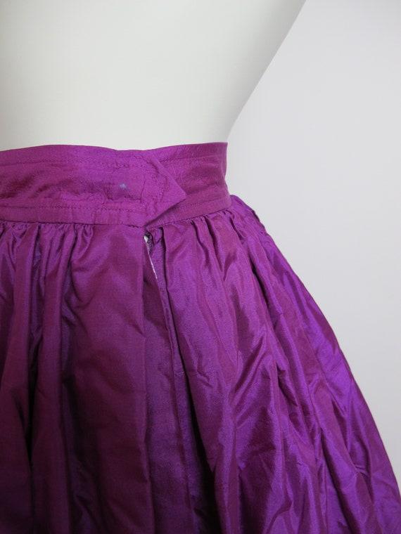 RARE / 70s Yves Saint Laurent silk skirt / Saint … - image 9