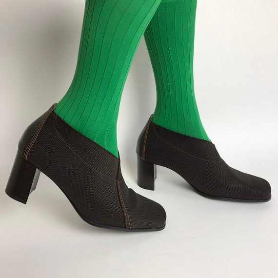 Vintage square toe square heel women's shoes / 90s