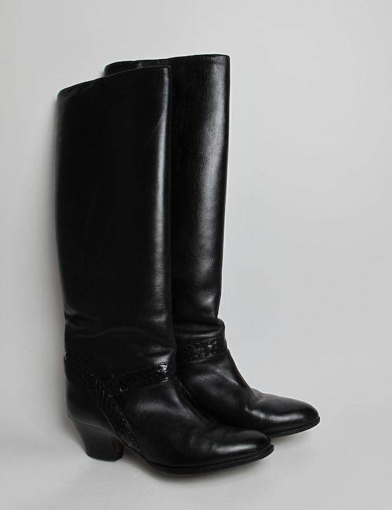 Stephane Kelian boots / 80s almond toe boots / 80… - image 5