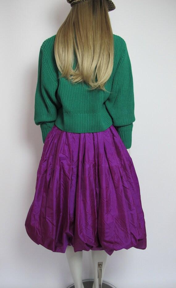 RARE / 70s Yves Saint Laurent silk skirt / Saint … - image 4