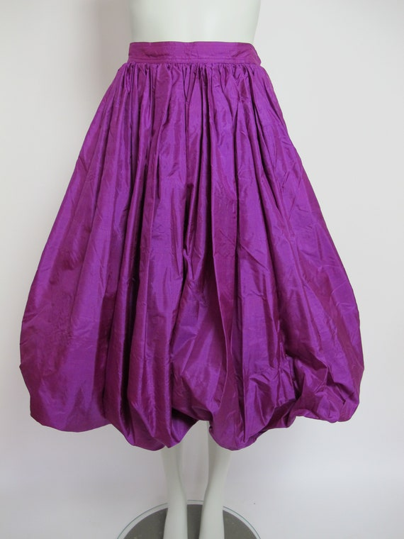 RARE / 70s Yves Saint Laurent silk skirt / Saint … - image 3
