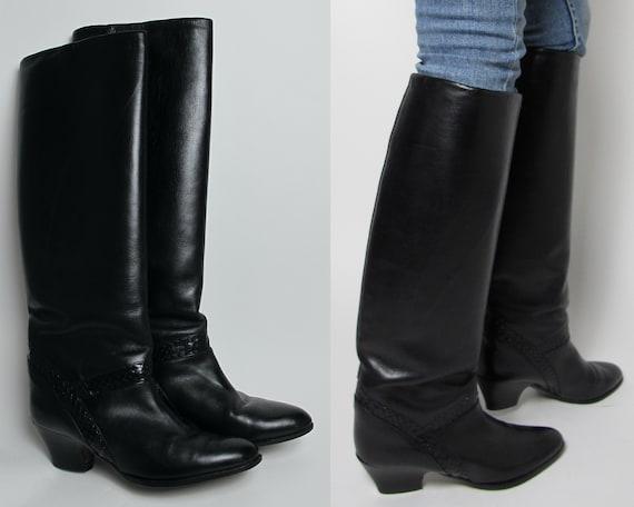 Stephane Kelian boots / 80s almond toe boots / 80… - image 1