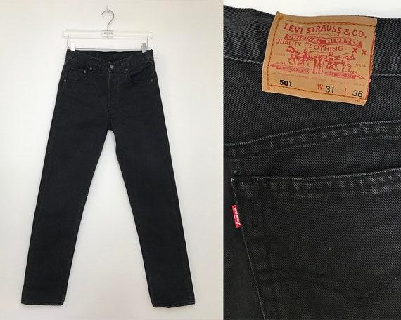 Vintage Levis 501 W31L32 / 90s black Levi's jeans